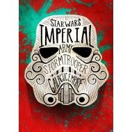 Star Wars - Poster en métal Masked Troopers Doodle 32 x 45 cm