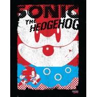 Sonic The Hedgehog - Lithographie Sonic Black 35 x 28 cm