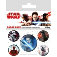 Star Wars Episode VIII - Pack 5 badges Characters