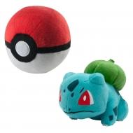 Pokemon - Peluche Bulbizarre avec Poke Ball 15 cm