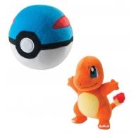 Pokemon - Peluche Salamèche avec Great Ball 15 cm