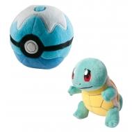 Pokemon - Peluche Carapuce avec Poke Ball 15 cm