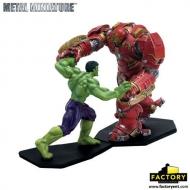 Avengers L'ère d'Ultron - Pack 2 figurines métal Hulk vs Hulkbuster 11 cm