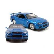 Fast & Furious - 1/32 2002 Nissan Skyline GTR R34 *bleu* métal