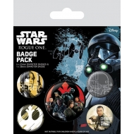 Star Wars Rogue One - Pack 5 badges Rebel