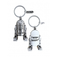 Star Wars - Porte-clés plaqué argent R2-D2 Beep-Beep