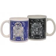Star Wars - Mug effet thermique Blueprint R2-D2