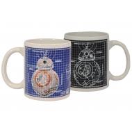 Star Wars - Mug effet thermique Blueprint BB-8