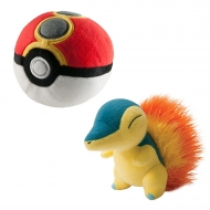 Pokemon - Peluche Hericendre avec Repeat Poke Ball 15 cm