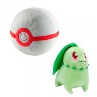 Pokemon - Peluche Germignon avec Premier Poke Ball 15 cm