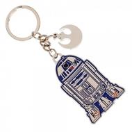 Star Wars Episode VII - Porte-clés métal R2-D2 & Rebel Charm