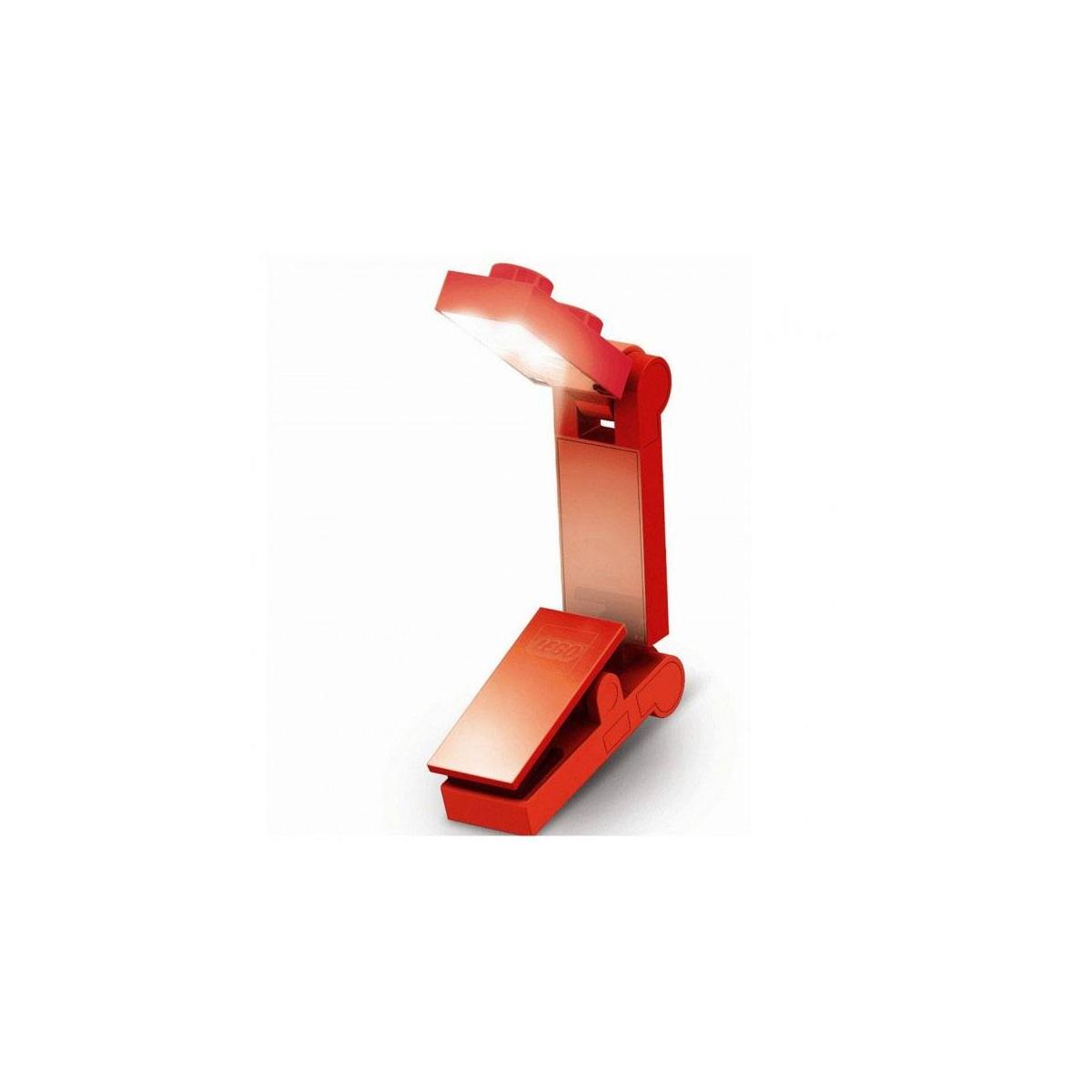 lego - lego lampe de lecture led rouge - figurine-discount