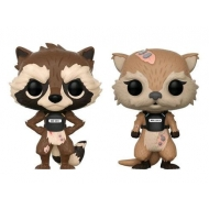Les Gardiens de la Galaxie The Telltale - Figurines POP!  Vinyl Rocket & Lylla 9cm