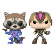 Marvel vs. Capcom Infinite - Pack 2 Figurines POP! Rocket vs. MegaMan X 9 cm