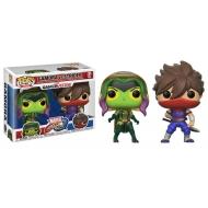 Marvel vs. Capcom Infinite - Pack 2 Figurines POP! Gamora Vs. Strider 9 cm