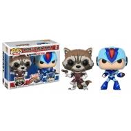 Marvel vs. Capcom Infinite - Pack 2 Figurines POP! Rocket vs. Mega Man X 9 cm