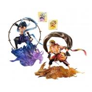 Naruto Shippuden G.E.M. Remix Series - Statuettes Sasuke Uchiha Raijin & Uzumaki Fujin 18cm