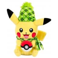 Pokemon - Peluche Pikachu (Winter Edition) 20 cm