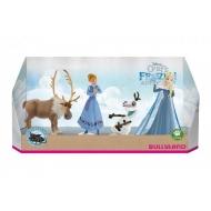 La Reine des neiges Joyeuses Fêtes avec Olaf - Pack 4 figurines 5 - 10 cm
