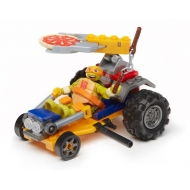 Tortues Ninja - Les  Mega Bloks jeu de construction Mikey Pizza Racer