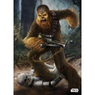 Star Wars - Poster en métal Chewbacca vs Stormtrooper 32 x 45 cm