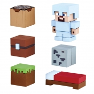 Minecraft - Figurines Mine-Keshi 2- 4 cm Starter Set Survival Pack & Steve
