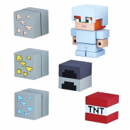 Minecraft - Figurines Mine-Keshi 2- 4 cm Starter Set Cave Adventure Pack & Alex