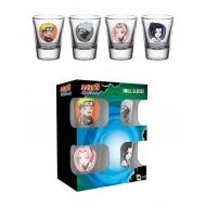 Naruto Shippuden - Set 4 verres à liqueur Premium Characters