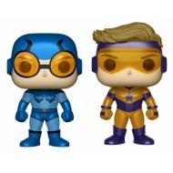 DC Comics - Pack 2 figurines POP! Blue Beetle & Booster Gold Metallic 9 cm