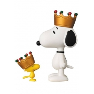Snoopy - Mini figurines Medicom UDF Roi Snoopy & Woodstock 8 - 3 cm