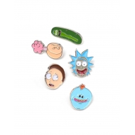 Rick et Morty - Pack 5 badges Characters