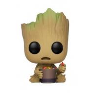 Les Gardiens de la Galaxie 2 - Figurine POP! Bobble Head Jeune Groot et son bol de bonbons 9 cm