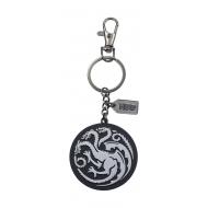 Game of Thrones - Porte-clés métal Targaryen Silver Logo
