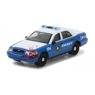 Walking Dead - Réplique métal 1/64  Ford Crown 2001 Police Interceptor Bloody Lootchest Exclusive