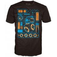 Star Wars Episode VIII - Star Wars Episode VII POP! Tees T-Shirt BB-8 Blueprint