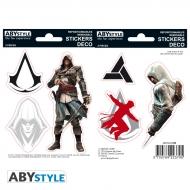 Assassin's Creed - 2 planches Stickers Edward Altaïr 16x11cm