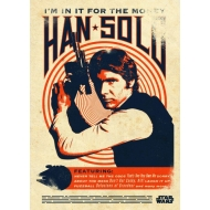 Star Wars - Poster en métal  Legends Han Solo 10 x 14 cm