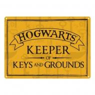Harry Potter - Panneau métal Keeper of Keys 21 x 15 cm