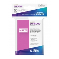 Ultimate Guard - 50 pochettes Supreme UX Sleeves taille standard Rose Mat