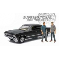 Supernatural - Réplique 1/18 métal Chevrolet Impala Sport Sedan 1967 avec 2 figurines