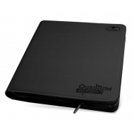 Ultimate Guard - Album 12-Pocket QuadRow ZipFolio XenoSkin Noir
