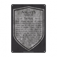 Game of Thrones - Panneau métal Nights Watch 21 x 15 cm