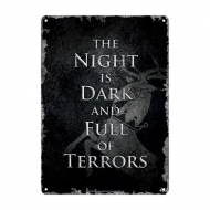 Game of Thrones - Panneau métal Night Dark 21 x 15 cm
