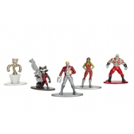 Marvel Comics - Pack 5 figurines Diecast Nano Metalfigs Les Gardiens de la Galaxie 4 cm
