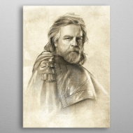 Star Wars - Poster en métal Last Jedi Sketches Luke Skywalker 32 x 45 cm