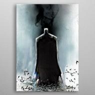 DC Comics - Poster en métal Batman Light Absorption Black Mirror 32 x 45 cm