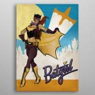 DC Comics - Poster en métal Bombshells Batgirl 10 x 14 cm