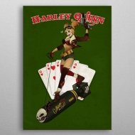 DC Comics - Poster en métal Bombshells Harley Quinn 10 x 14 cm