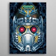 Marvel - Poster en métal GOTG2 Star-Lord Helmet 10 x 14 cm