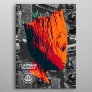 Marvel - Poster en métal GOTG2 Groot 10 x 14 cm